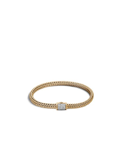John Hardy | Metallic Classic Chain 18k Gold And Diamond Pavé Extra Small Bracelet | Lyst