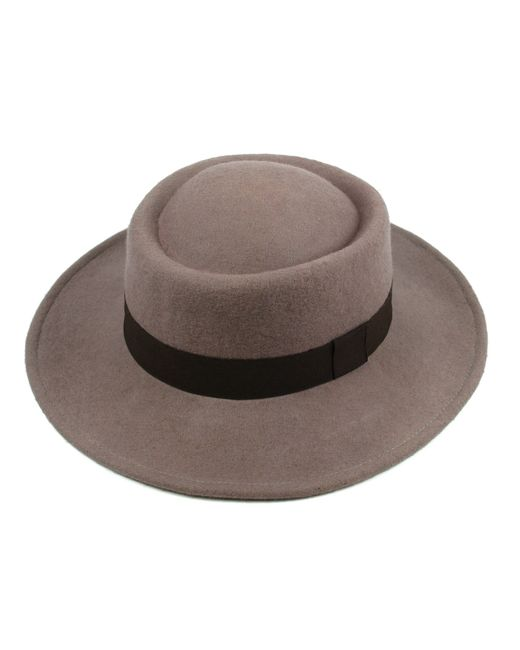 Michael Stars | Natural Flat Top Fedora | Lyst