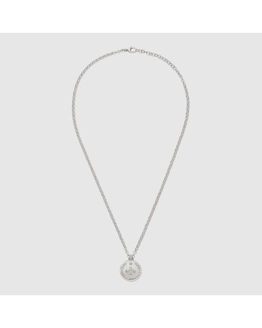 Gucci | Metallic Necklace In Silver With Coin | Lyst