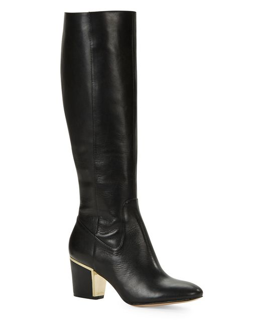 Calvin Klein | Black Keana Leather Boots | Lyst