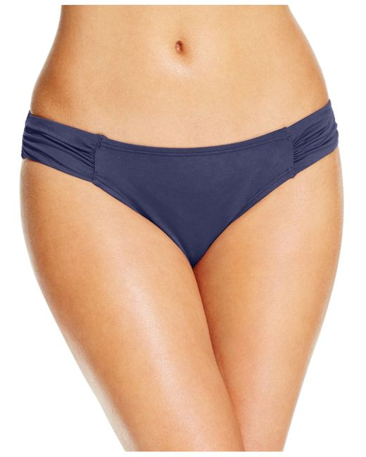 Tommy Bahama | Blue Ruched Side-tab Hipster Bikini Bottoms | Lyst