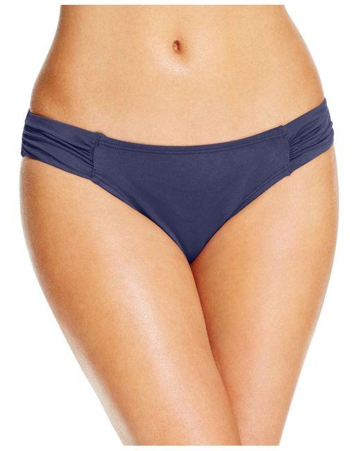 Tommy Bahama | Blue Ruched Side-tab Hipster Bikini Bottom | Lyst