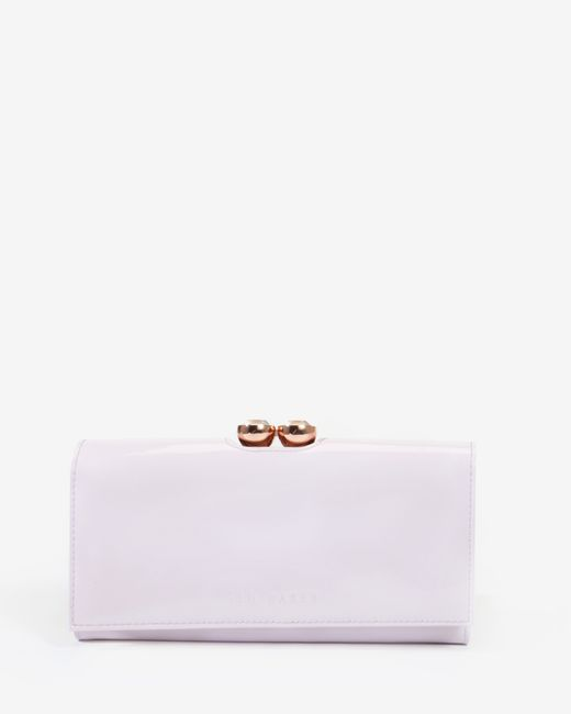 Ted Baker | Pink Leather Crystal Bobble Matinee Purse | Lyst