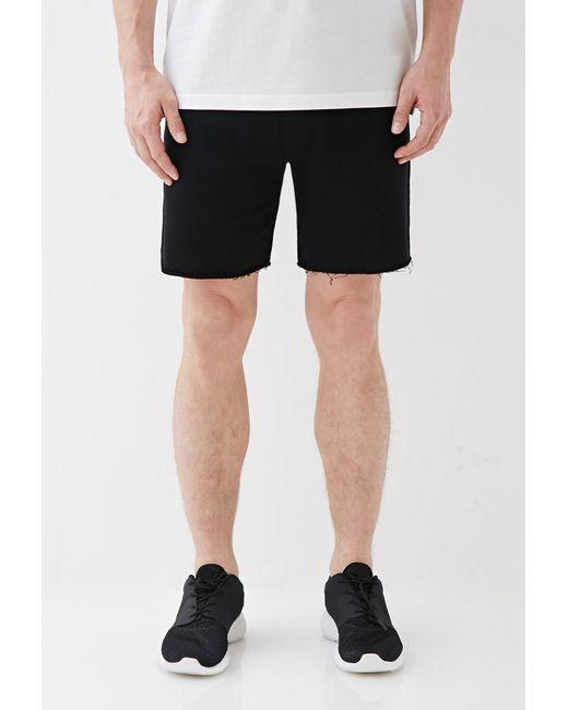 Forever 21 | Black Varsity-striped Cutoff Sweatshorts for Men | Lyst