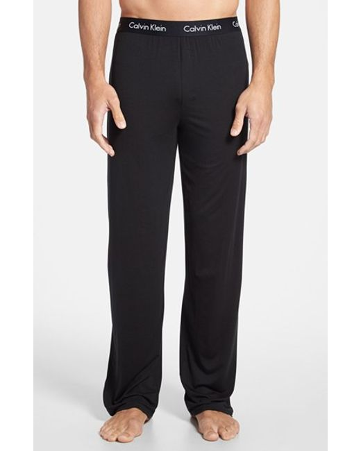 Calvin Klein | Black 'u1143' Micromodal Lounge Pants for Men | Lyst