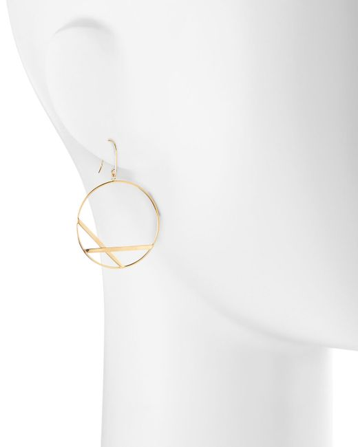 Lana Jewelry | Metallic 14k Small Affinity Hoop Drop Earrings | Lyst