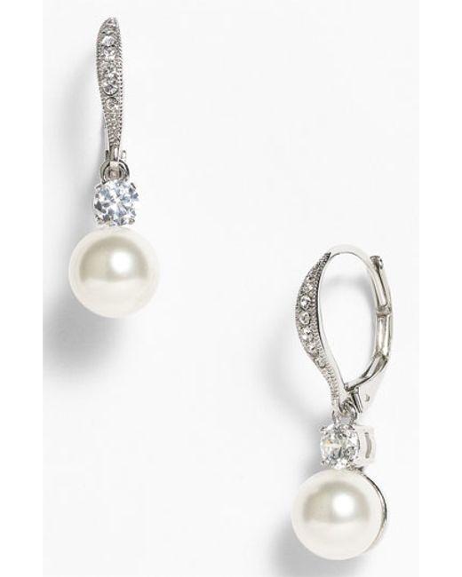 Nadri | Metallic Drop Earrings (nordstrom Exclusive) | Lyst