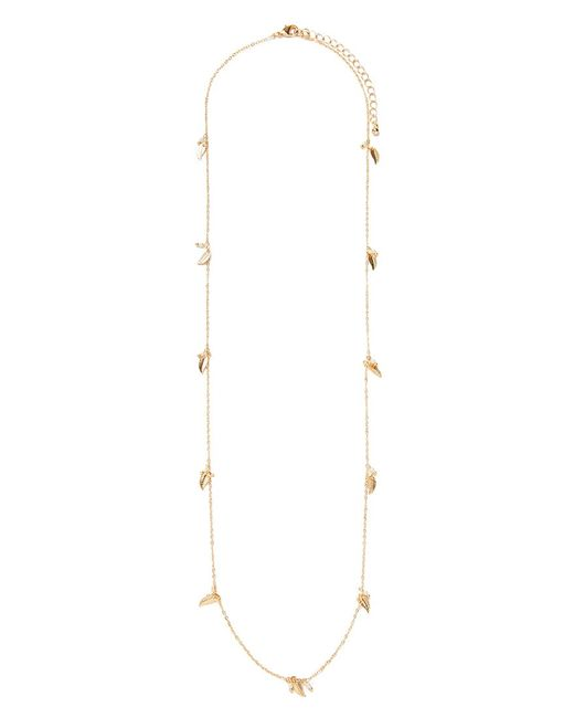 Forever 21 | Metallic Leaf Charm Longline Necklace | Lyst