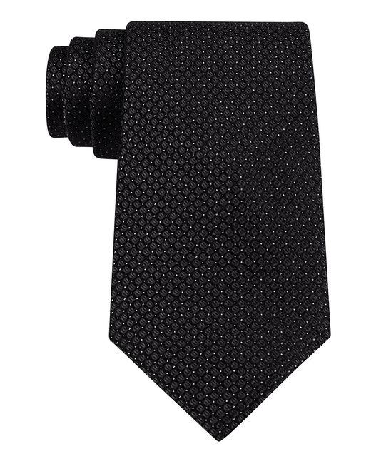 Calvin Klein | Black Classic Fit Micro Dot Textured Silk Tie for Men | Lyst