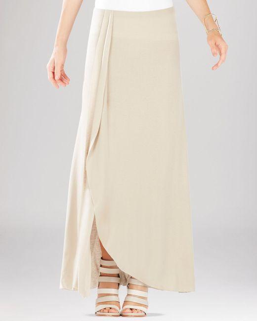 BCBGMAXAZRIA   Natural Logan Side Slit Ruffle Maxi Skirt   Lyst