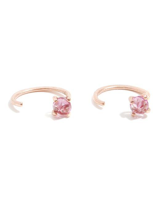 Melissa Joy Manning | Pink Garnet Hug Hoops | Lyst