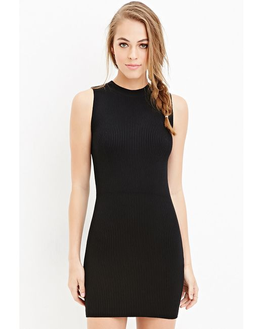 Forever 21 | Black Ribbed Bodycon Dress You've Been Added To The Waitlist | Lyst