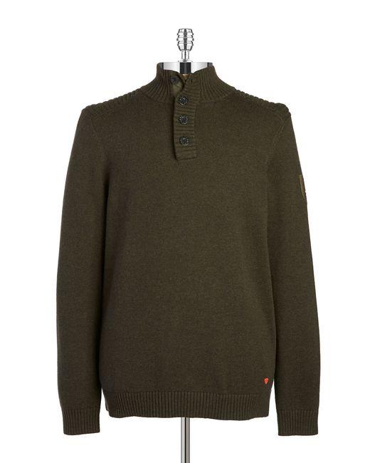 Strellson | Green Mockneck Sweater for Men | Lyst