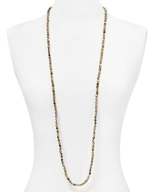 Chan Luu | Metallic Champagne Crystal Necklace | Lyst