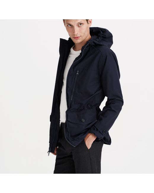 J.Crew | Blue Cotton-nylon X250 Hooded Jacket for Men | Lyst