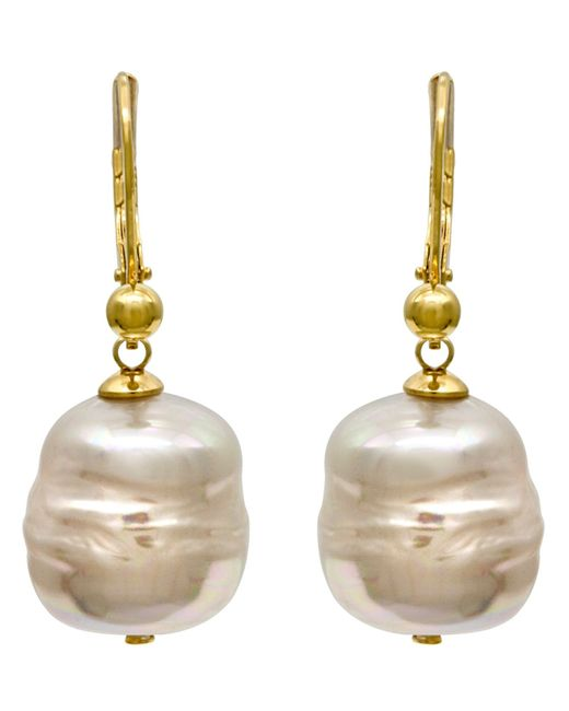 Majorica | Metallic Organic Man-made Baroque Pearl Drop | Lyst