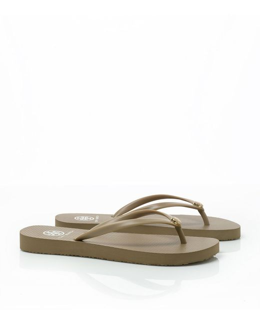 Tory Burch | Natural Thin Flip-flop | Lyst