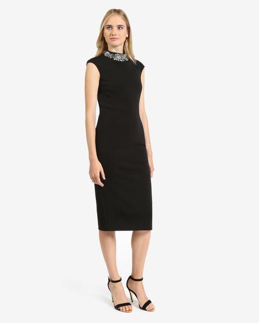 Ted Baker | Black Embellished Neckline Dress | Lyst