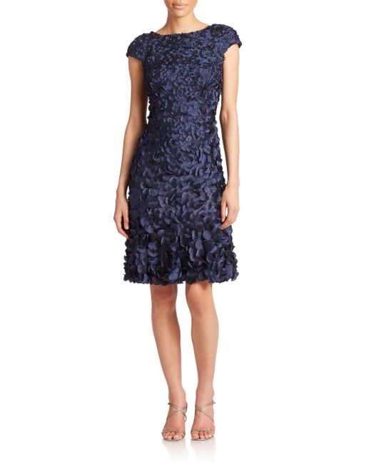 THEIA | Blue Embellished Sheath Dress  | Lyst