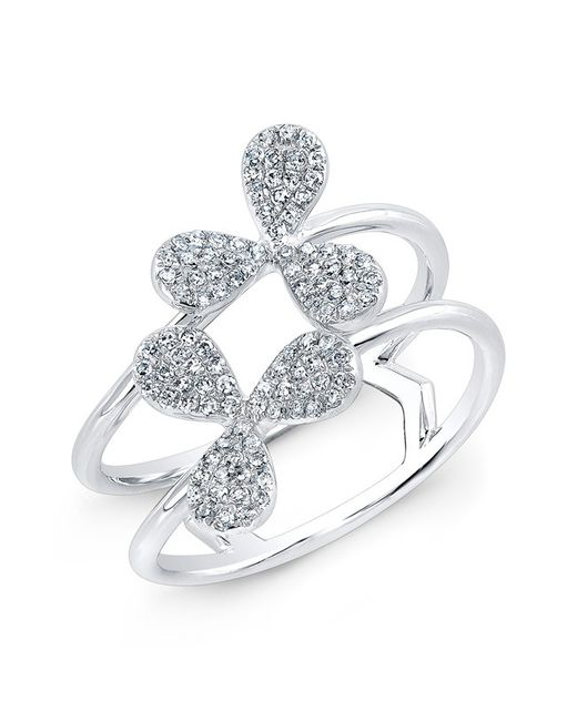 Anne Sisteron - Metallic 14kt White Gold Diamond Daisy Flower Ring - Lyst