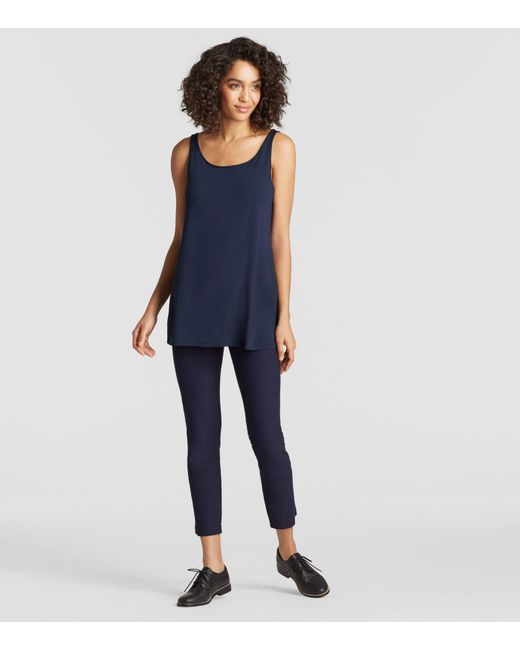 Eileen Fisher - Blue System Viscose Jersey Tunic - Lyst