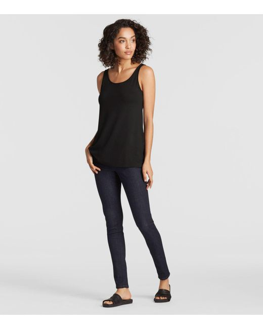 Eileen Fisher - Black Lightweight Viscose Jersey System Tunic - Lyst