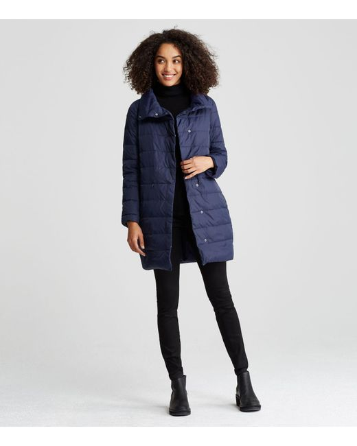 Eileen Fisher | Blue Weather Resistant Down Cocoon Coat | Lyst