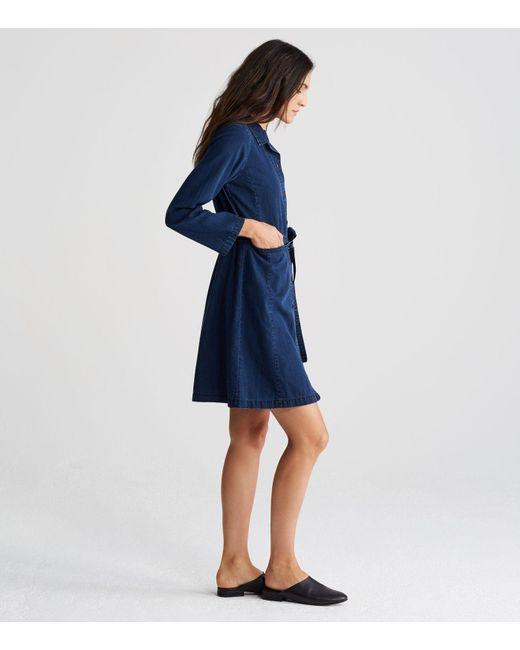 4be5b271fbb ... Eileen Fisher - Blue Organic Cotton Denim Shirt Dress - Lyst ...