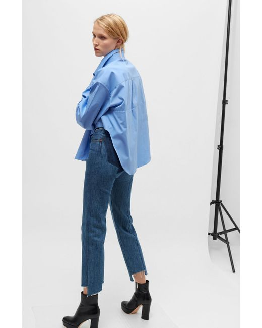 Vetements | Blue Oversized Shirt | Lyst