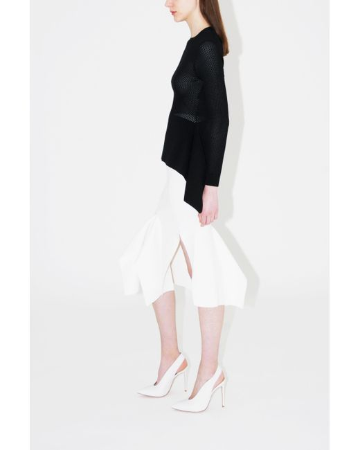 2399854a83 Roland Mouret - White Lucca Midi Skirt - Lyst ...