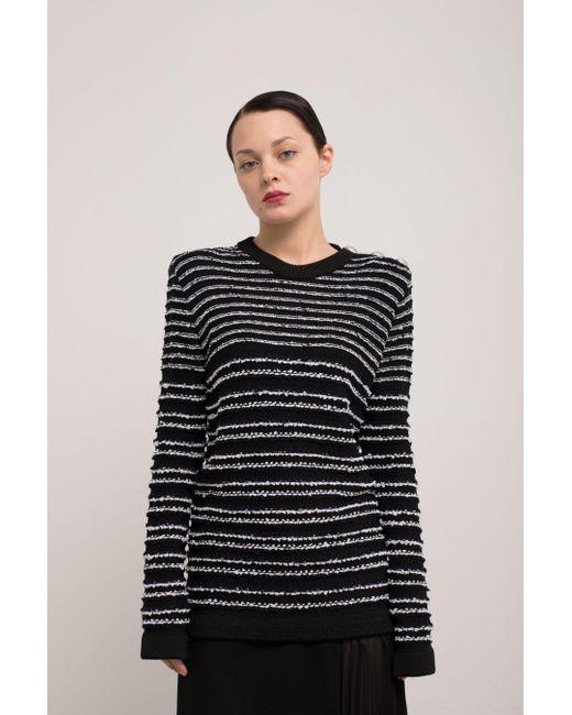 Balmain - Black Striped Sweater - Lyst
