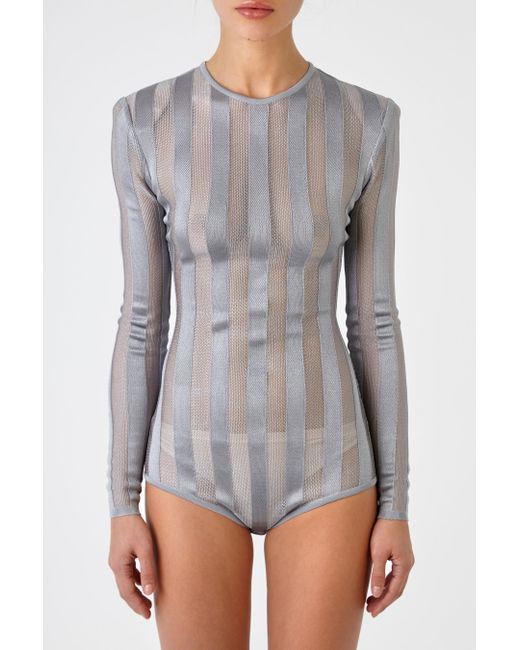 Balmain | Gray Semitransparent Body | Lyst