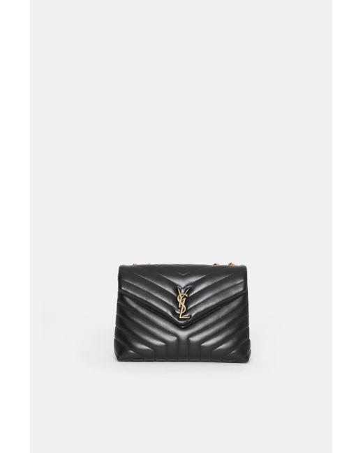 dbe87a893 Saint Laurent - Black Medium Loulou Bag - Lyst ...