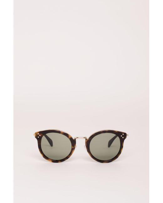 7ff6c45328 Céline - Brown Cat Eye Sunglasses - Lyst ...