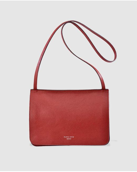 Gloria Ortiz - Adele Red Leather Crossbody Bag With Magnet - Lyst