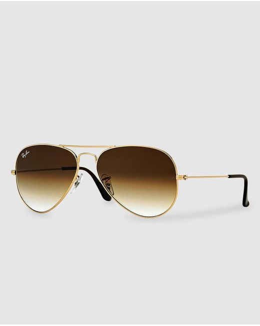Ray-Ban - Aviator Brown Sunglasses - Lyst