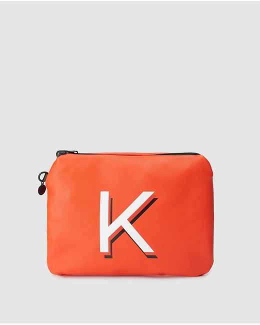 Kendall + Kylie Orange Backpack With Outer Pockets