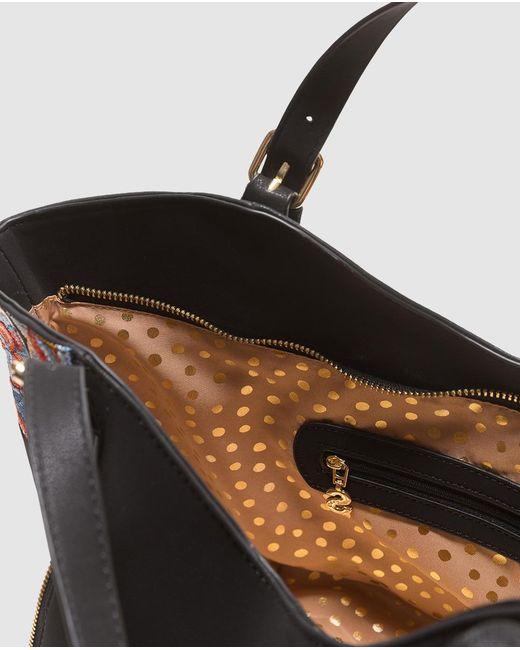 f1516f705aa93 ... Desigual - Odissey Rotterdam Black Handbag With Floral Embroidery -  Lyst ...
