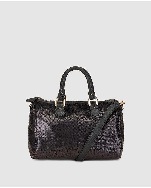 El Corte Inglés - Brown Reversible Copper Bowling Bag With Sequins - Lyst