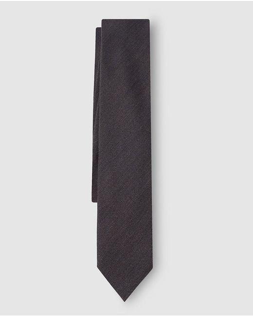 Mirto | Plain Brown Wool Tie for Men | Lyst