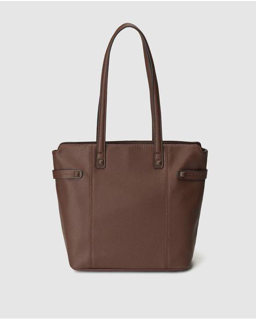 El Corte Inglés - Brown Shopper Bag With Side Studs - Lyst