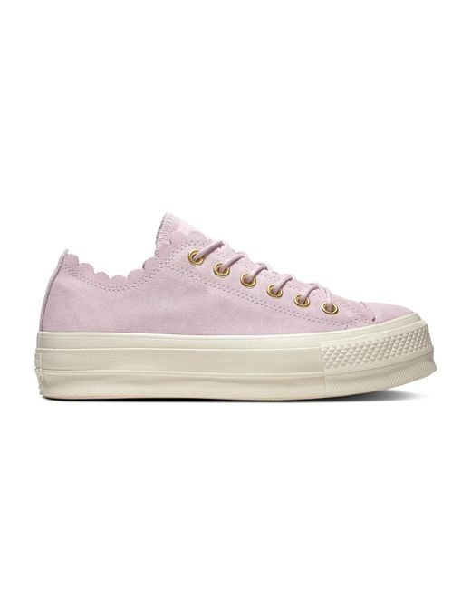 952b2f1b287f Converse - Pink Chuck Taylor All Star Frilly Thrills Casual Suede Low-top  Trainers -