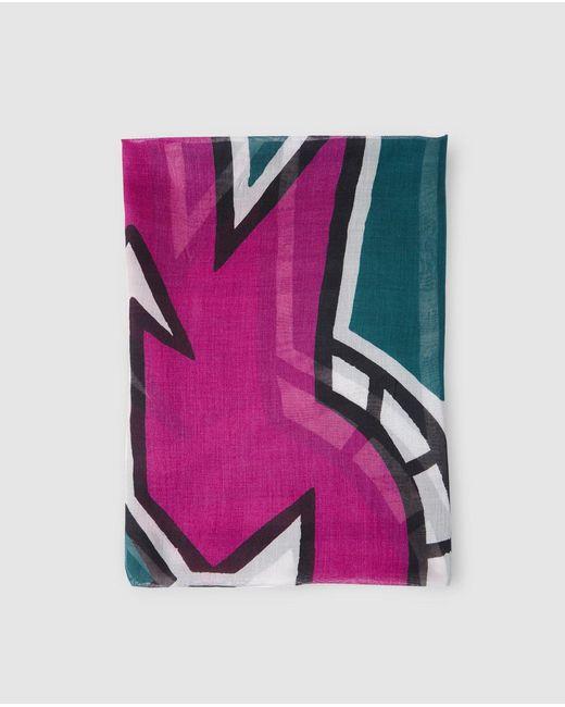 Gloria Ortiz - Multicolor Multicoloured Print Foulard - Lyst