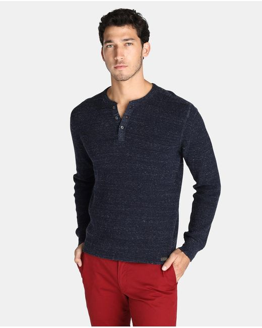 Polo Ralph Lauren | Blue Sweater With A Button-front Neckline for Men | Lyst