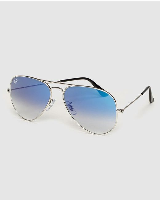 145b2b67a9 ... Ray-Ban - Metallic Aviator Blue Sunglasses for Men - Lyst