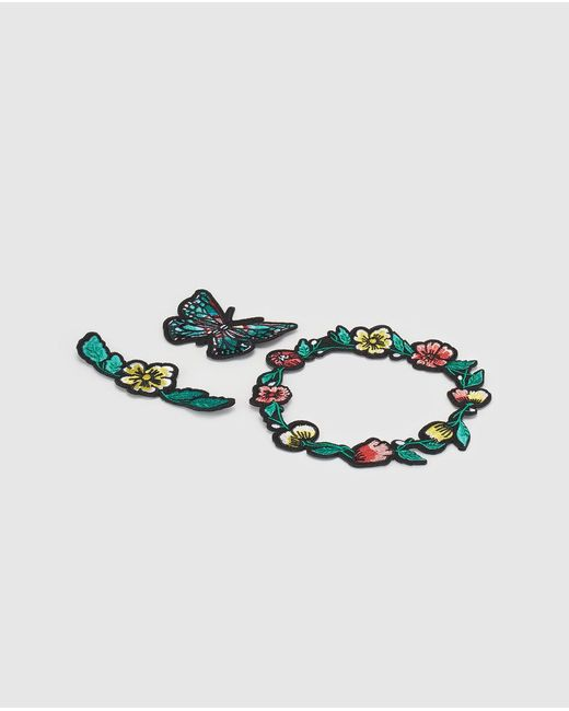 GREEN COAST - Multicolor Set Of Multicoloured Flower And Butterfly Patches - Lyst