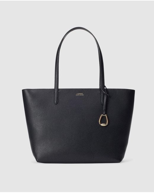 e95a6afb01 Lauren by Ralph Lauren - Tote Bag In Black With Taupe Interior - Lyst ...