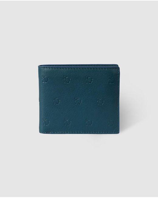 Jo & Mr. Joe - Mens Blue Embossed Billfold Wallet for Men - Lyst