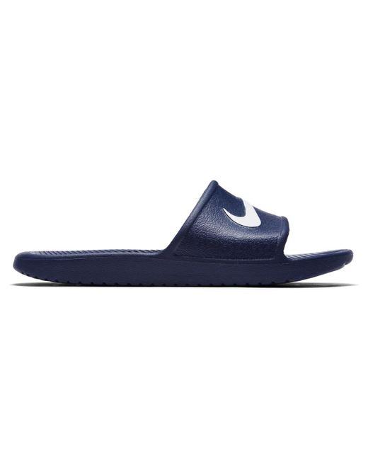363d10d14f4c Nike - Blue Kawa Swimming Sandals for Men - Lyst ...