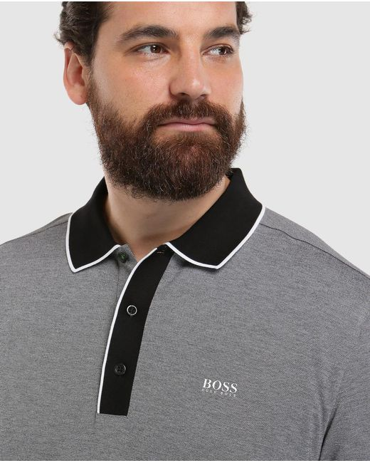 cb71cb584 ... BOSS - Gray Big And Tall Grey Short Sleeve Piqué Polo Shirt for Men -  Lyst ...